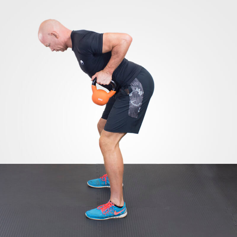 KETTLEBELL BENT OVER ROW position 2