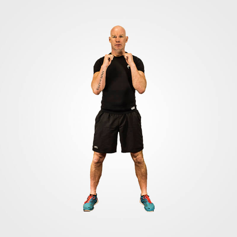 KETTLEBELL GOBLET SQUAT NO BELL POSITION 1