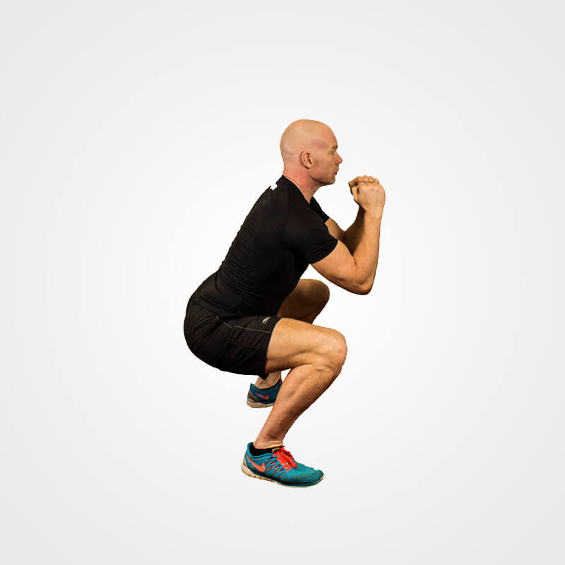 KETTLEBELL GOBLET SQUAT NO BELL POSITION 2