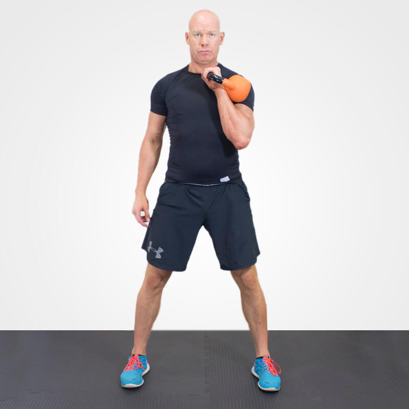 KETTLEBELL SHOULDER PRESS POSITION 1