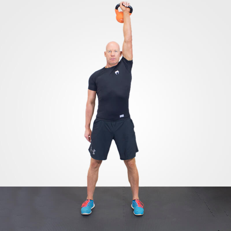 KETTLEBELL SHOULDER PRESS POSITION 2